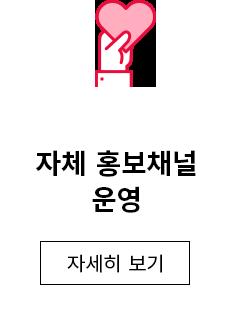자체 홍보채널 운영